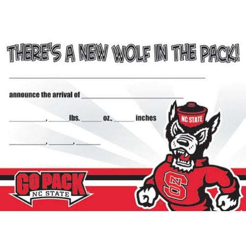 NC State Wolfpack Birth Announcements 10-Pack