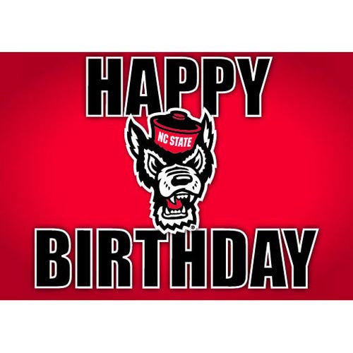 NC State Wolfpack Happy Birthday Wolfhead Card