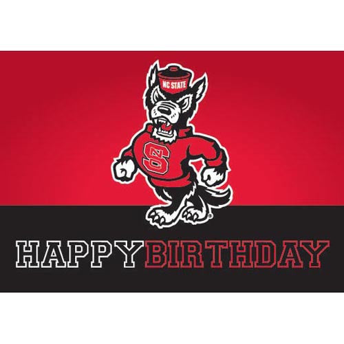 NC State Wolfpack Strutting Wolf Happy Birthday Card