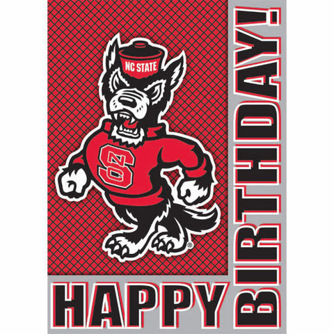 NC State Wolfpack Strutting Wolf Fantastic Birthday Card
