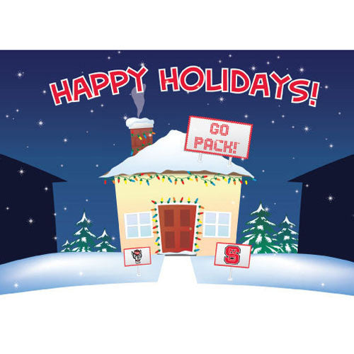 NC State Wolfpack Happy Holidays Go Pack House Card Pack
