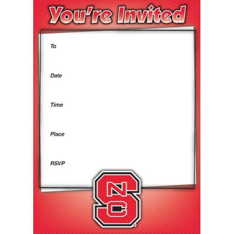 NC State Wolfpack Party Invitations - 10pack