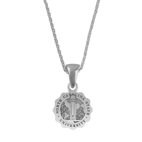 NC State Wolfpack Sterling Silver Seal Necklace