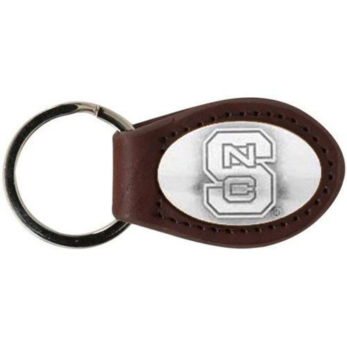 NC State Wolfpack Brown Leather Concho Key Chain