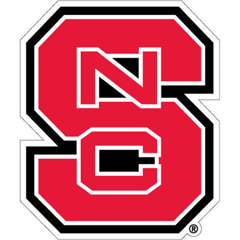 NC State Wolfpack Red Block S Vinyl Decal