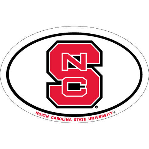 NC State Wolfpack Block S Euro Vinyl Decal
