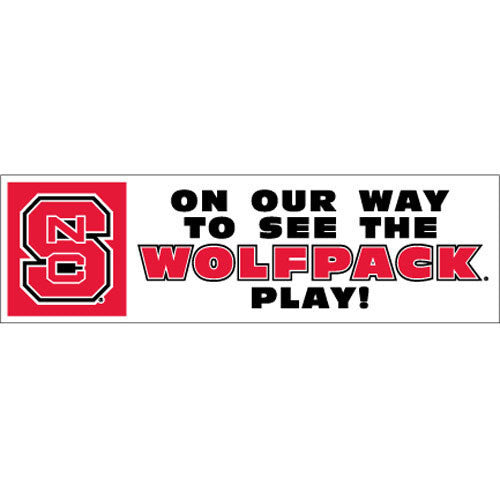 "NC State Wolfpack ""On Our Way"" Block S Magnet"