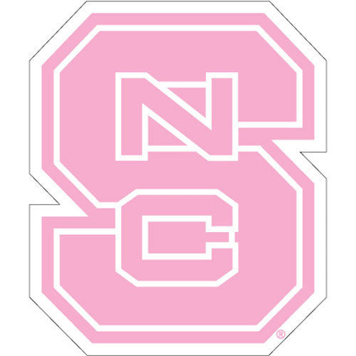 NC State Wolfpack Pink Block S Vinyl Decal