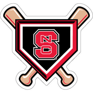 NC State Wolfpack Baseball Bats & Homeplate Vinyl Decal