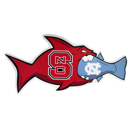 Nc State Wolfpack Unc Rival Fish Vinyl Decal Red And