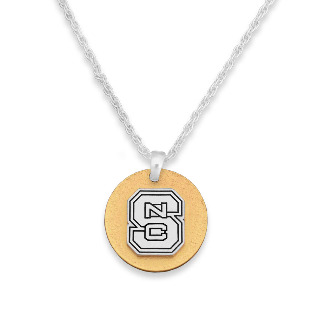 NC State Wolfpack Two Tone Medallion Necklace