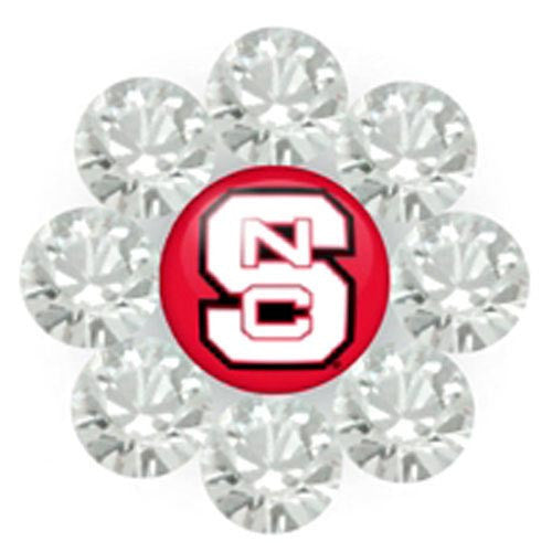 NC State Wolfpack Large Daizie Adjustable Rings White