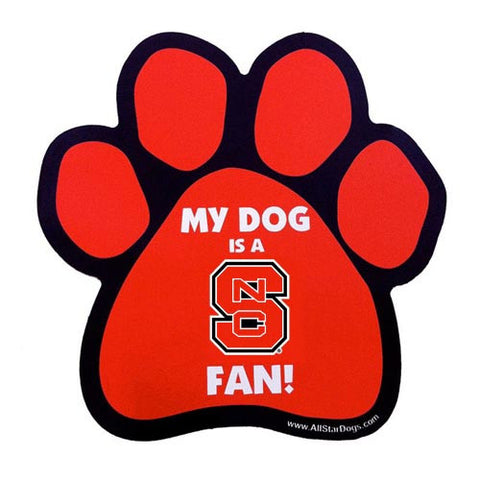 NC State Wolfpack Paw Magnet