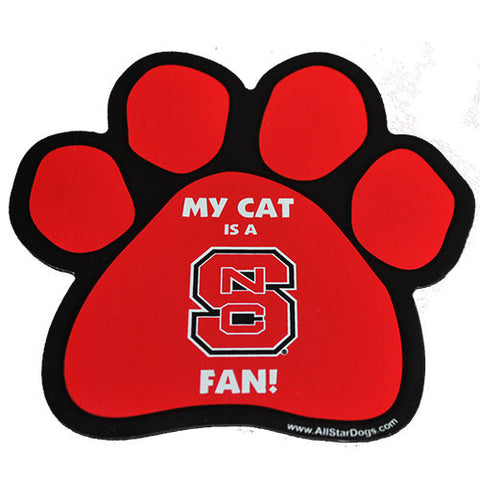 NC State Wolfpack Cat Paw Magnet