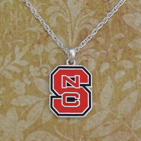 North Carolina State Wolfpack FTH Red Block S Necklace