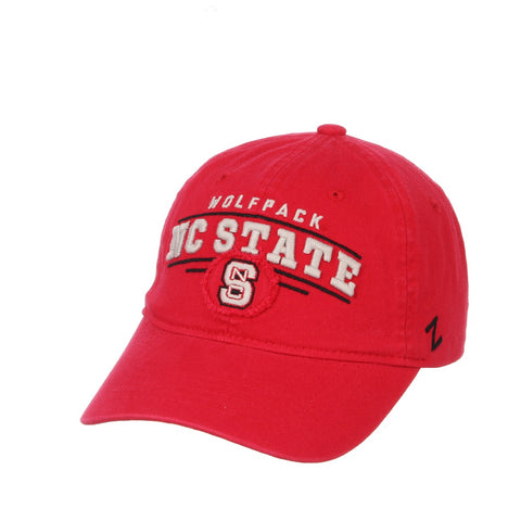 NC State Wolfpack Red Garment Washed Collegian Adjustable Hat