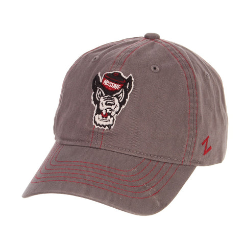 NC State Wolfpack Grey Wolfhead Composure Adjustable Hat
