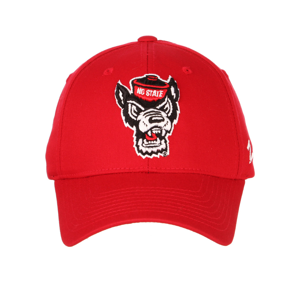 bce2024199be6b NC State Wolfpack Zephyr Red Competitor Wolfhead Hat – Red and White Shop