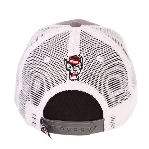 NC State Wolfpack Block S Flag Mesh Adjustable Hat