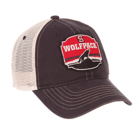 NC State Wolfpack Black Homestead Adjustable Mesh Hat