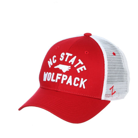 NC State Wolfpack Red and White Juncture Adjustable Mesh Hat