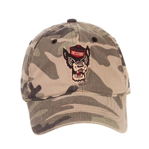 NC State Camo Wolfhead Maverick Adjustable Hat