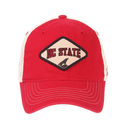 size 40 8ae42 37a85 NC State Wolfpack Zephyr Roadside Wolf Statue Patch Mesh Hat