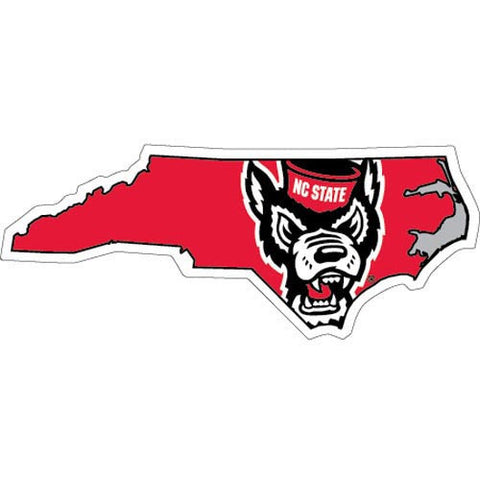 NC State Wolfpack State Outline Wolfhead Magnet