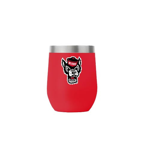 NC State Wolfpack 12oz. Red Wolfhead Stemless Tumbler
