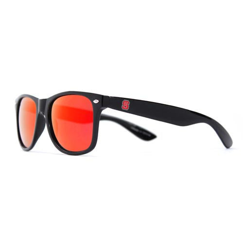 NC State Wolfpack Black Throwback Sunglasses