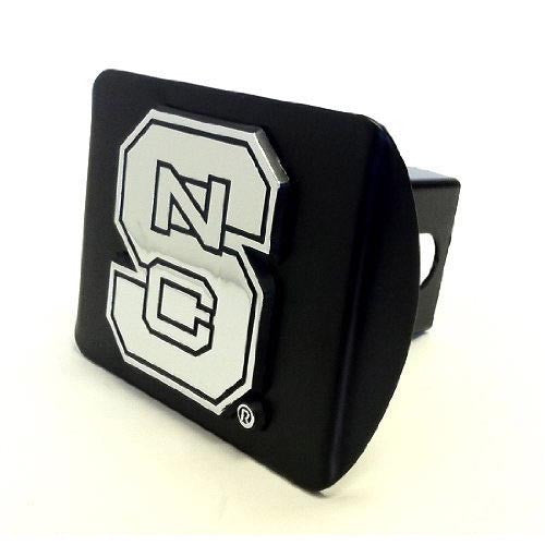NC State Wolfpack Black w/ Chrome Block S Hitch Cover