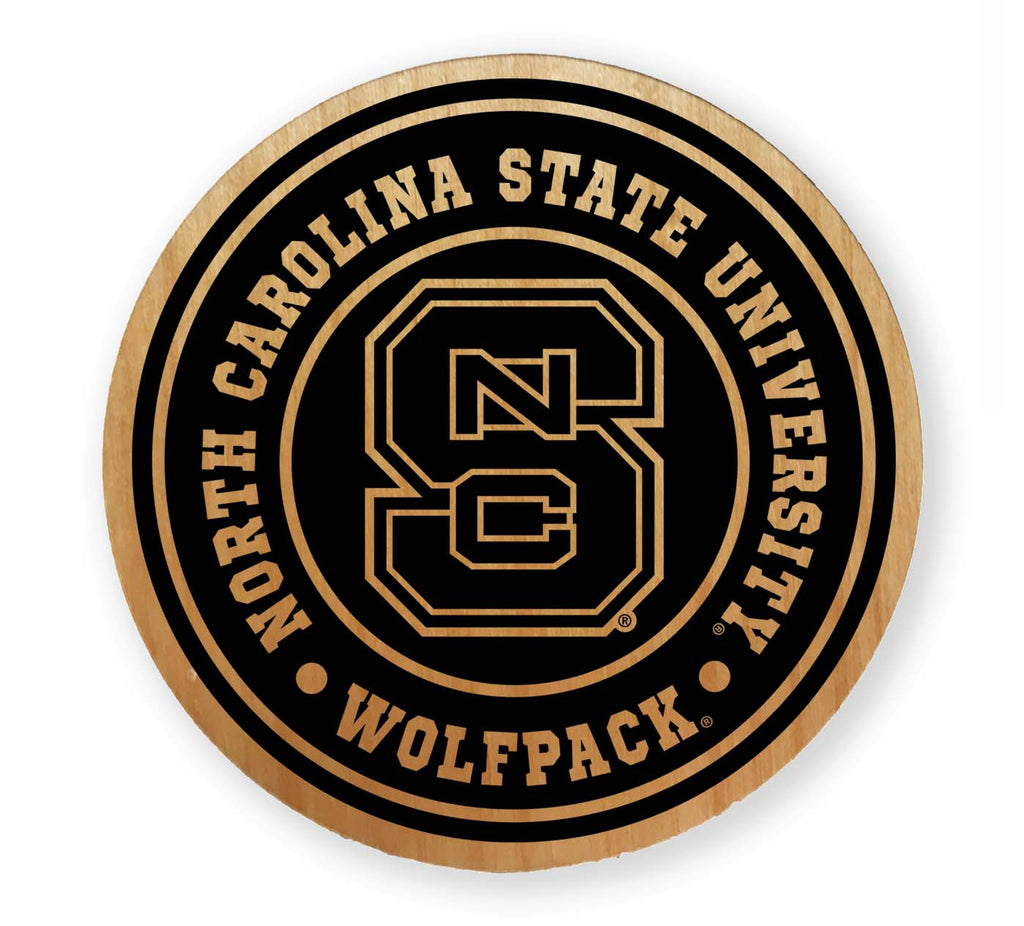 NC State Wolfpack Block S Wood Magnet