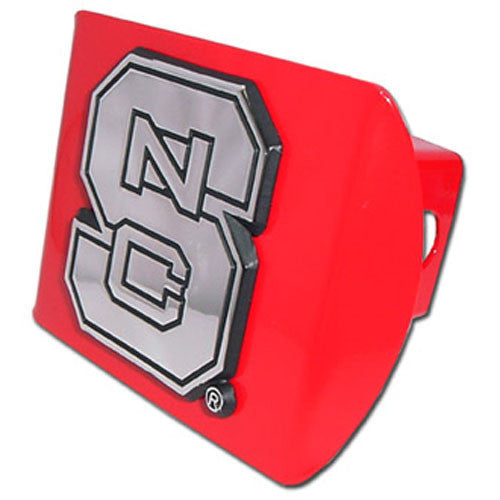NC State Wolfpack Red w/Chrome Hitch Cover