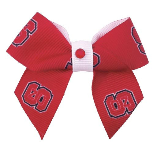 NC State Wolfpack Dog Hair Bow