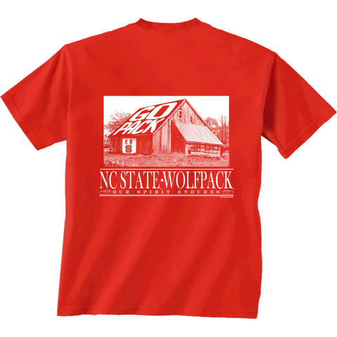 NC State Wolfpack Youth Red Go Pack Barn T-Shirt