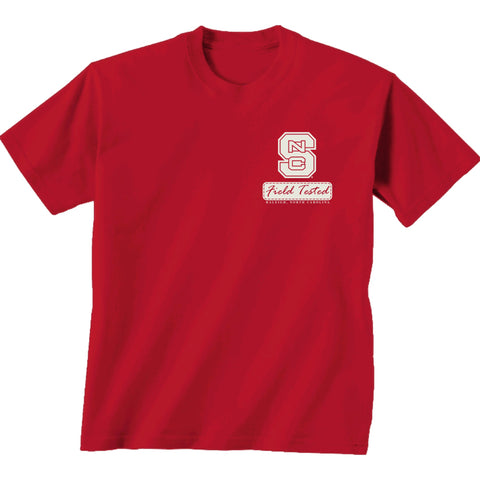 NC State Wolfpack Red Crossed Oval Field Tested T-Shirt