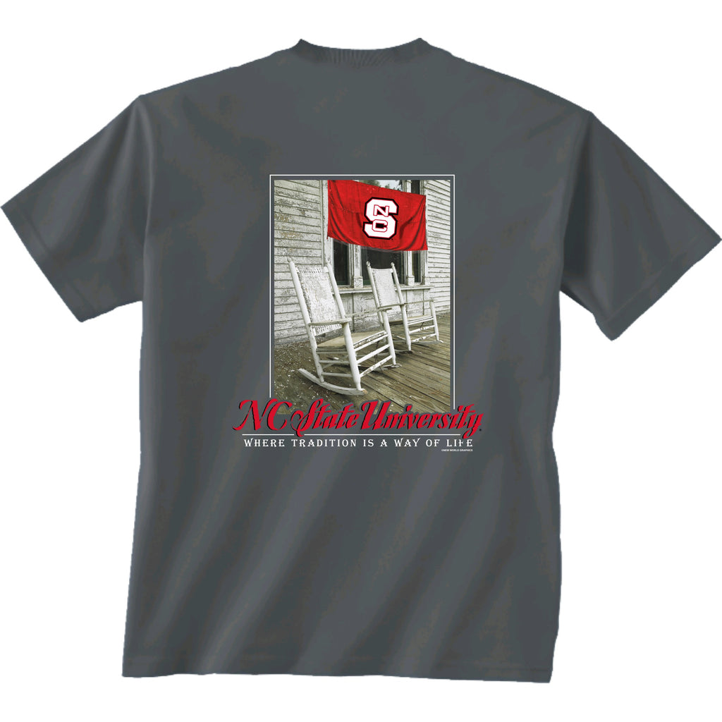 Nc State Wolfpack Grey Down South T Shirt Red And White Shop