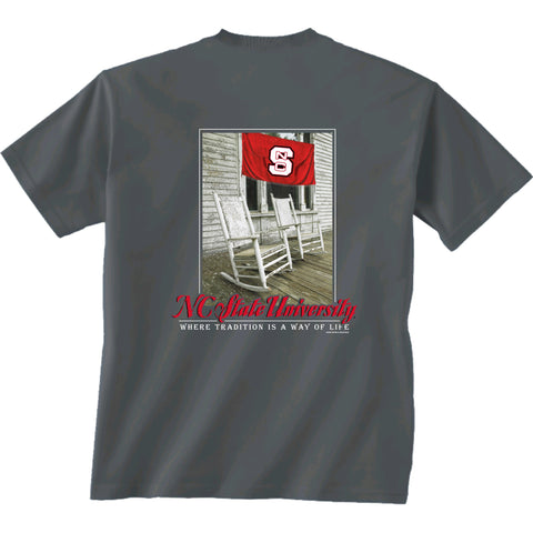 NC State Wolfpack Youth Grey Down South T-Shirt