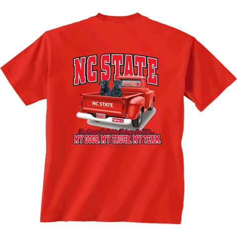 NC State Wolfpack Red Truck Dogs T-Shirt