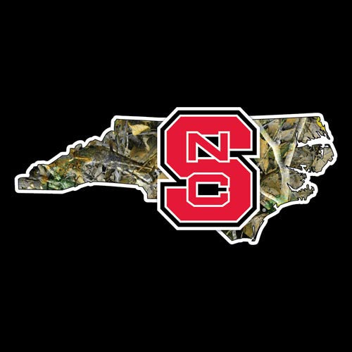NC State Wolfpack Camo Our State Block S Decal