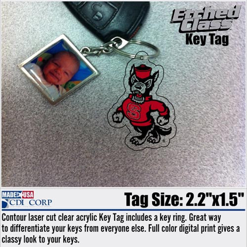 NC State Wolfpack Strutting Wolf Key Tag