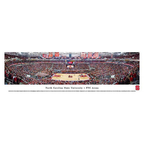 NC State Wolfpack Basketball Defeats UNC at PNC Arena Panoramic Print