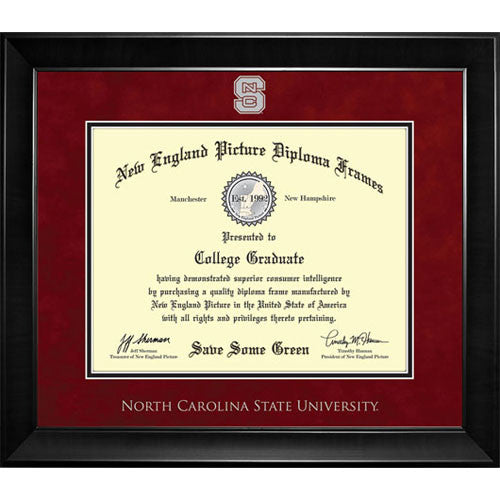 NC State Wolfpack New England Diploma Frame - 7013 – Red and White Shop