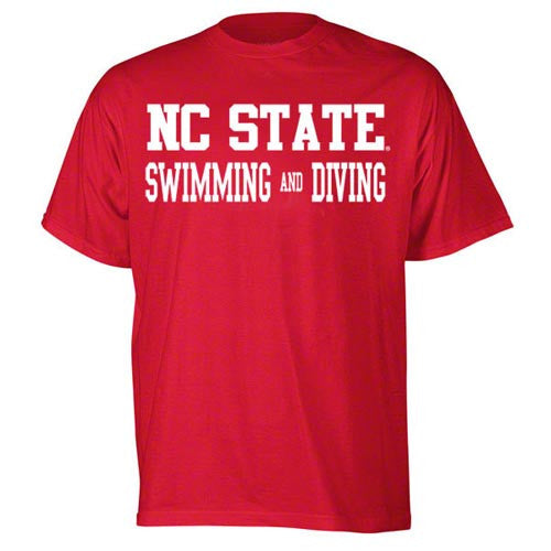 NC State Wolfpack Red Sport Swimming & Diving Youth T-Shirt