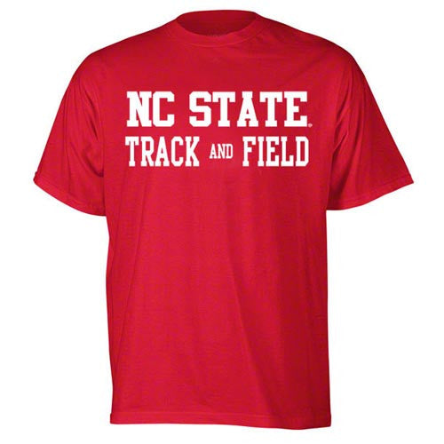 NC State Wolfpack Red Sport Track and Field T-Shirt