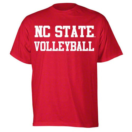 NC State Wolfpack Red Sport Volleyball T-Shirt