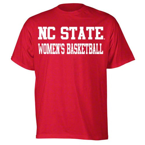 Nc state wolfpack red sport women 39 s basketball youth t for Nc state basketball shirt
