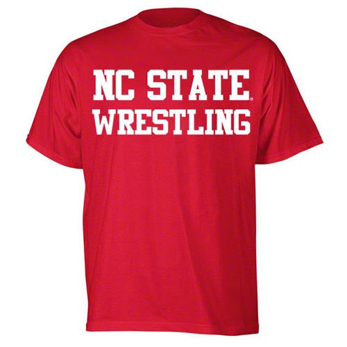 NC State Wolfpack Red Sport Wrestling Youth T-Shirt
