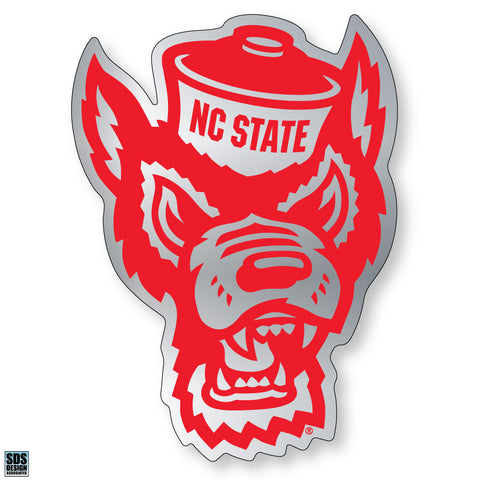 NC State Wolfpack Chrome Wolf Head Decal