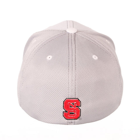 NC State Wolfpack Zephyr White and Grey Yeti Wolfhead Stretch Hat